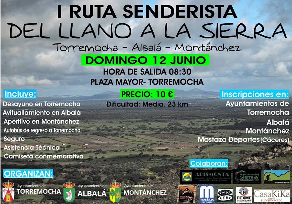 I Ruta del Llano a la Sierra. Torremocha-Albalá-Montánchez